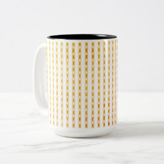 Mugs_Peach_Checks_ Zweifarbige Tasse