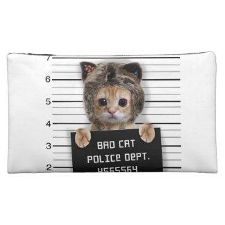 Mugshotkatze - verrückte Katze - Miezekatze - Cosmetic Bag