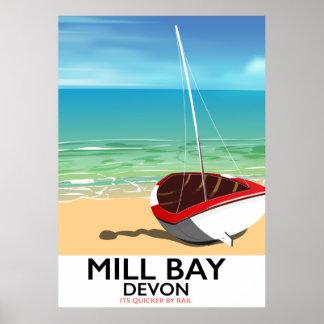 Mühlbucht-Devon-Schienenplakat Poster