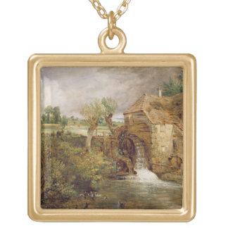 Mühle bei Gillingham, Dorset, 1825-26 (Öl auf Lein Halskette Mit Quadratischem Anhänger
