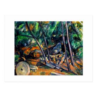 Mühlstein im Park durch bunte Kunst Pauls Cezanne Postkarte