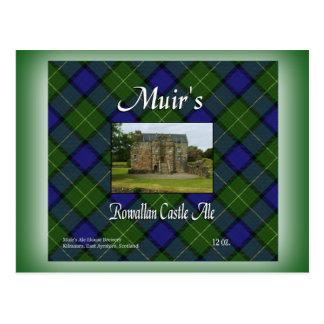 Muirs Rowallan Schloss-Ale Postkarte