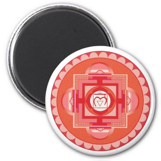 Mūlādhāra Mandala Chakra (Root chakra) Runder Magnet 5,7 Cm