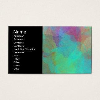 Mulitcolored Aquarell-Malerei-Grafik Visitenkarte