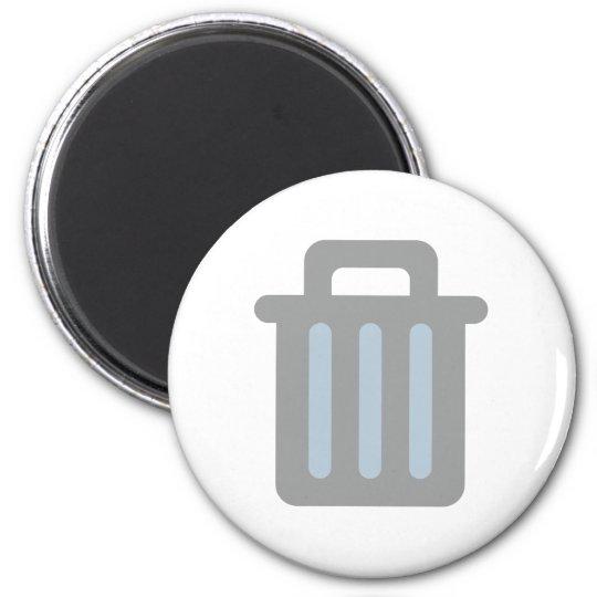 Mülleimer trash bin runder magnet 5,1 cm
