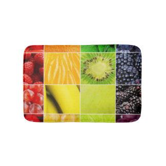 Multi bunte Frucht-Collage Badematte