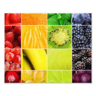Multi bunte Frucht-Collage Fotodruck
