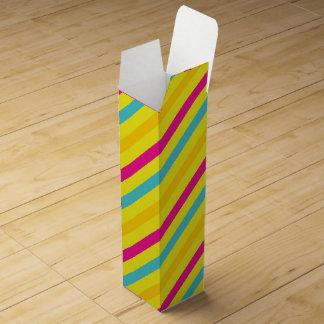 Multi diagonaler Streifen-Gelb-Entwurf Weinbox