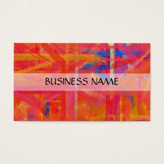 Multi-Farben, die abstrakte Kunst 4 malen Visitenkarte