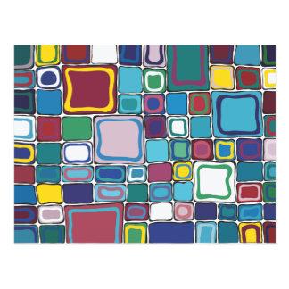 Multi Farbequadrat Postkarte