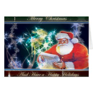 Multi Farbesankt-Weihnachtskarte Karte