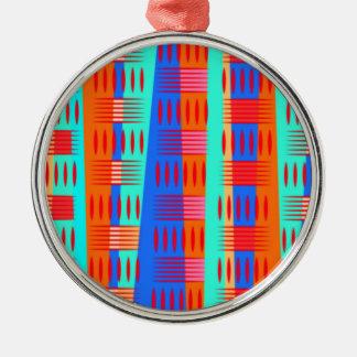Multi Farbgeometrische Formen Silbernes Ornament