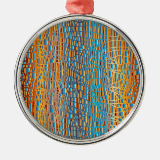 Multi Farbhintergrund Silbernes Ornament
