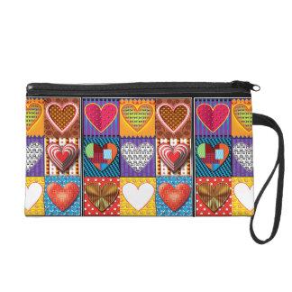 Multi farbige Herzen der Mode Wristlet-Tasche Wristlet Handtasche