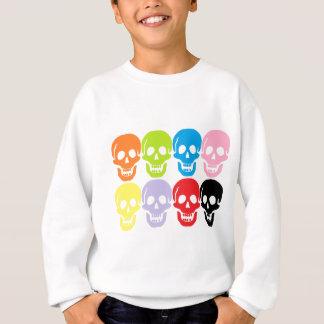 multi farbige Schädel Sweatshirt