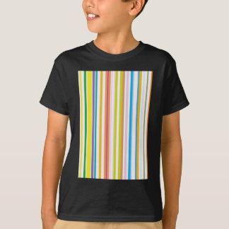 Multi farbige Streifen T-Shirt