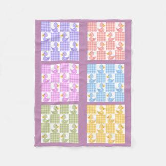 Multi Farbsteppdecke Duckies Entwurfs-Fleece-Decke Fleecedecke