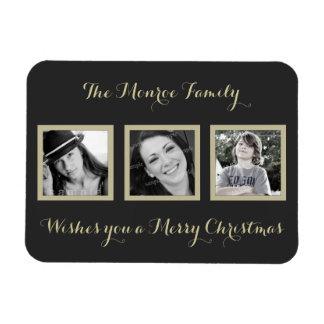 Multi-Foto einfacher Familien-Weihnachtsgruß Magnet