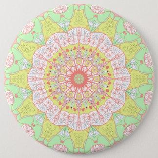 Multi Kreis des Mandalamusteryoga Farbmit blumen Runder Button 15,3 Cm