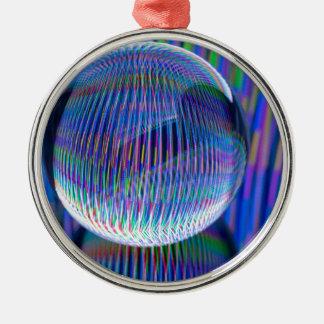 Multi Lichter im globe2 Silbernes Ornament