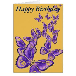 Multi lila Schmetterlingskarte alles Gute zum Karte