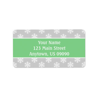 Multi Schneeflocke-Adressen-Etiketten Adressetikett