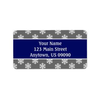 Multi Schneeflocke-Adressen-Etiketten Adressetiketten