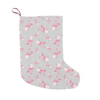Multi Strumpf der Flamingo-Liebe doppelseitig Kleiner Weihnachtsstrumpf