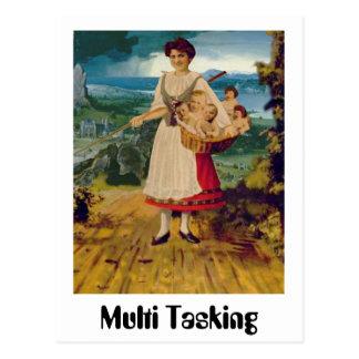 Multi Tasking Postkarte