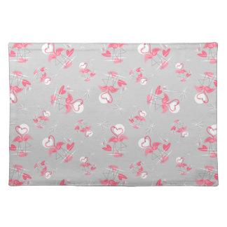 Multi Tischsetstoff der Flamingo-Liebe Tischset