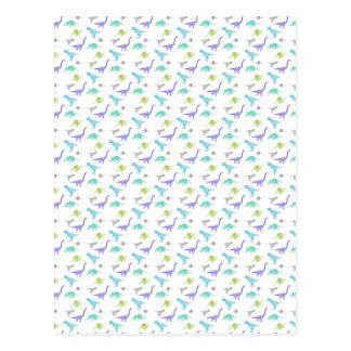 MulticolorDinosBig Postkarte