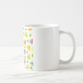 Multicolored Daisies And Leaves Floral Photo Coffee Mug