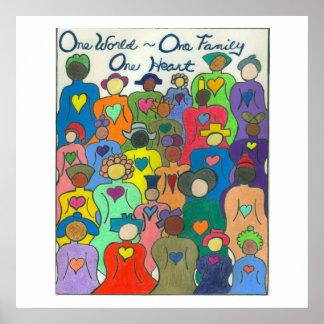 Multikulturelle Welt des Plakat-eins, eine Poster
