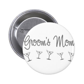 MultiMartini-GroomsMom-grau Runder Button 5,7 Cm