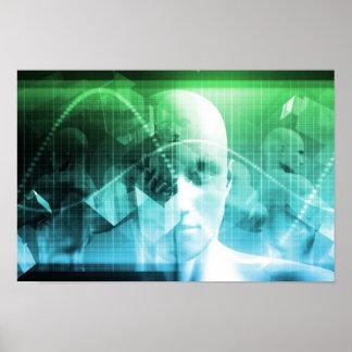 Multimedia-Technologie-Digital-Gerät-Informationen Poster