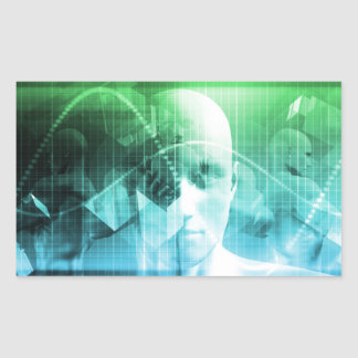 Multimedia-Technologie-Digital-Gerät-Informationen Rechteckiger Aufkleber