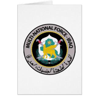 Multinationale Kraft - der Irak (1) Karte