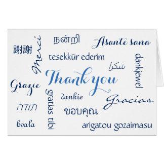 Multinationales Unternehmen danken Ihnen Karte