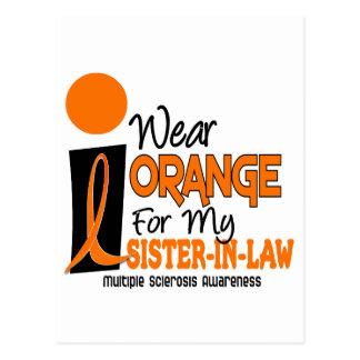 Multiple Sklerose Mitgliedstaat-Orange für meine Postkarte