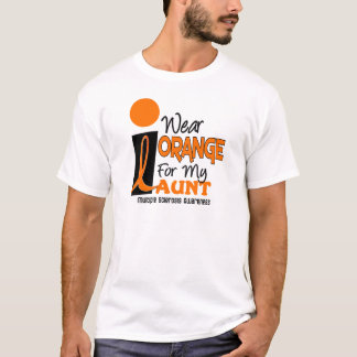Multiple Sklerose Mitgliedstaat trage ich Orange T-Shirt
