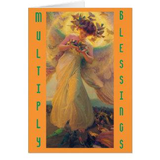 Multiplizieren Sie Segen notecard Karte