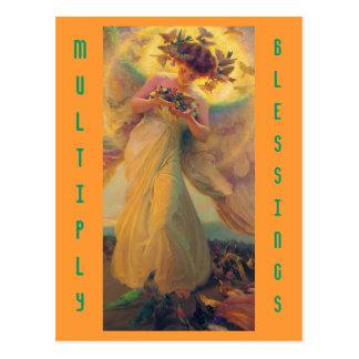 Multiplizieren Sie Segenpostkarte Postkarte