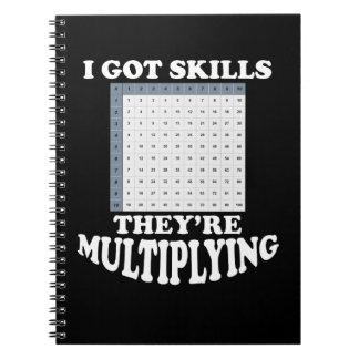 Multiplizieren von Mathe-Fähigkeiten Spiral Notizblock