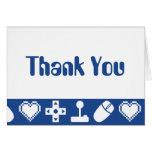 Multispielermodus im Blau danken Ihnen zu Mitteilungskarte