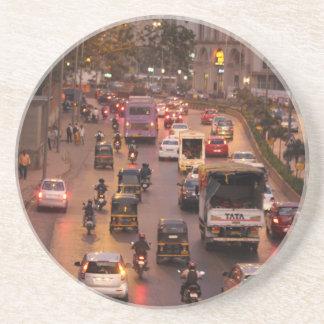 Mumbai-Straße Getränkeuntersetzer