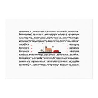 München - ARTPLACES - Skyline -  910 x 300 mm Gespannte Galeriedrucke