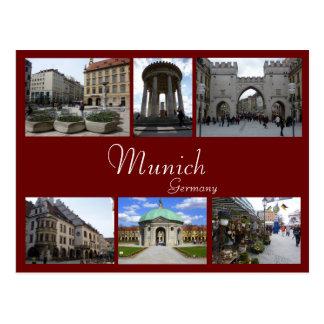 München-Collage Postkarte