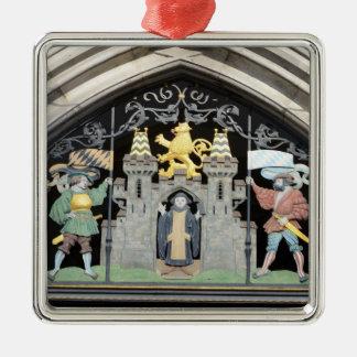 München, Deutschland Quadratisches Silberfarbenes Ornament