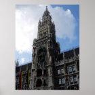 München-Glockenturm Marienplatz, S Cyr Poster