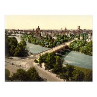 München I, Bayern, Deutschland Postkarte
